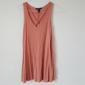 Dusty rose colored flowy mini dress!